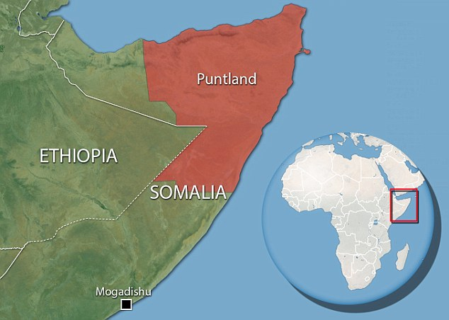 Map of Somalia. (Daily Mail)