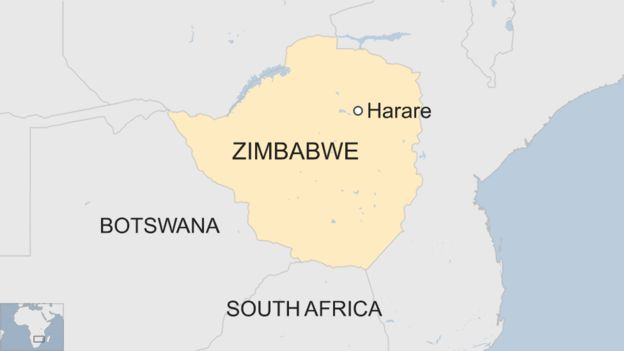 Map of Zimbabwe. (BBC)