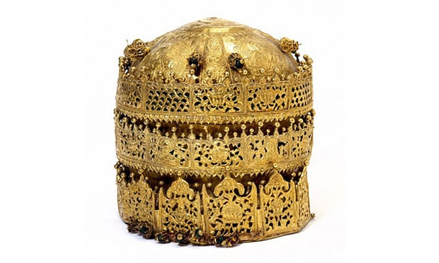 "A crown of gold from Ethiopia is among the items in the ""Maqdala 1868"" exhibition at the Victoria and Albert Museum in London. (Victoria and Albert Museum)"
